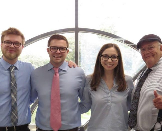 Bluestone Trading Diamond Team from left to right, Cody Grampp, Ritchie Grampp Jr., Morgann Grampp, and RB Grampp Sr.