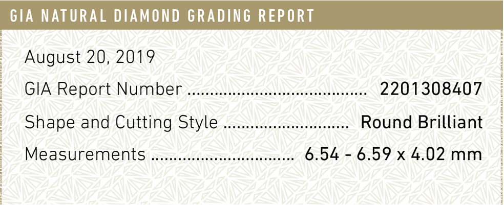 GIA Natural Diamond Grading Report