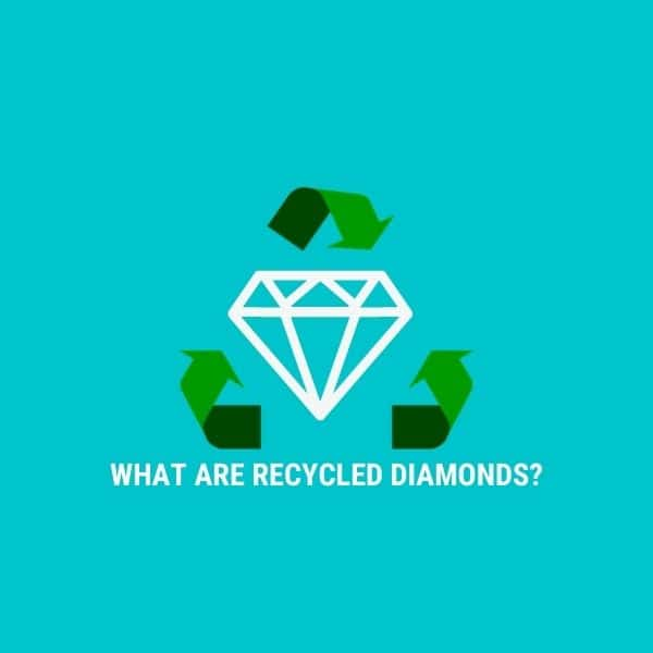 diamond with recycled symbol