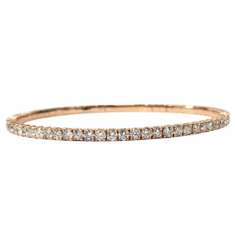 14KR Diamond Bangle Bracelet