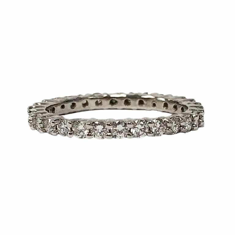 Diamond eternity ring 14KW gold