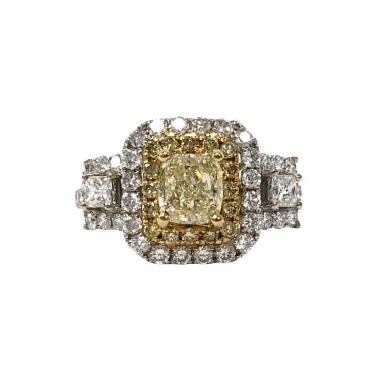 18KTT Yellow Diamond ring