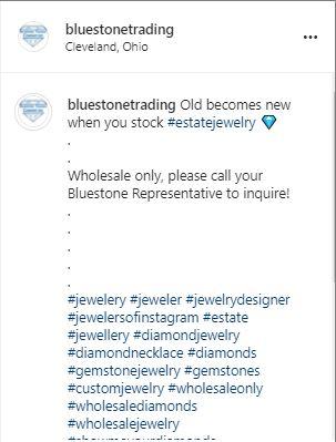 hashtags on a Bluestone Trading Post